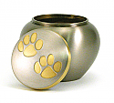 Bronze Paws Brass Pet Cremation Urns