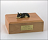 Chihuahua, Tri-Color Laying Dog Figurine Cremation Urn