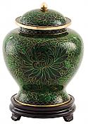 Jade Cloisonne Cremation Urn