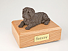 Shar Pei, Chocolate Laying Dog Figurine Cremation Urn