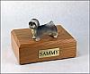 Lhasa Apso, Gray, Puppycut Dog Figurine Cremation Urn