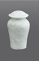 Arno White Marble Keepsake Cremation Urn