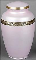 Calais Soft Pink Brass Cremation Urn