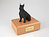 Schnauzer, Black - ears up Dog Figurine Cremation Urn