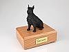 Schnauzer, Black - ears up Dog Figurine Cremation Urn