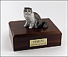 Persian, Grey Cat Figurine Cremation Urn