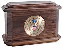 Military Hardwood Cremation Urn