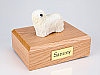 Komondor Dog Figurine Cremation Urn