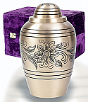 Brass Bouquet Cremation Urn