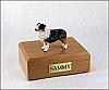 Australian Shepherd Blue Standing Dog Figurine Cremation Urn
