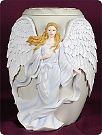 Beloved Painted Angel Cremation Urn