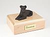 Schnauzer, Bronze - ears down Dog Figurine Cremation Urn