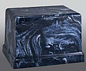 Greco Navy Marble Single Adult Cremation Urn