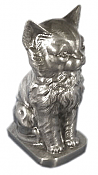 Metal Cat Urn Pewter
