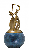 Dance of Life Cultured Bronze Cremation Urn