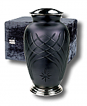 Black Glass Cremation Urn