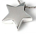 Sterling Silver Star Pendant Cremation Urn