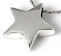 Sterling Silver Star Pendant Cremation Urn