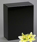 Black Granite Adult Cremation Urn