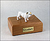 Bulldog   White Ears Up Standing Dog Figurine Cremation Urn