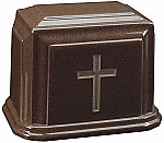 3D Cross on Cultured Granite Cremation Urn
