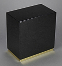 Black Granite Adult Cremation Urn with Bottom Trim