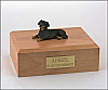 Dachshund, Black laying  Dog Figurine Cremation Urn