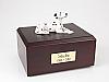 Dalmatian, Laying Dog Figurine Cremation Urn