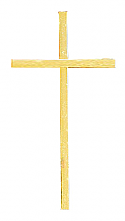 Simple Brass Cross Applique for Urns