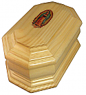 Guadalupe Solid Wood Cremation Urn
