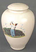 Tee Time Porcelain Cremation Urn