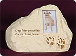 Dog Paw Prints Rock Keepsake Cremation Urn