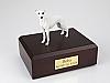 Whippet, White Dog Figurine Cremation Urn