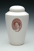 Sepia Photo Ceramic Cremation Urn