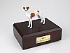 Whippet, White/Spot Standing Dog Figurine Cremation Urn
