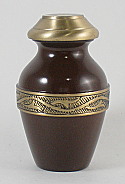 Bella Espresso Brass Keepsake Cremation Urn