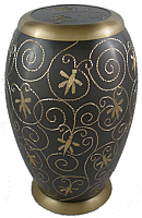 Spring Dragonfly Brass Cremation Urn