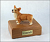 Welsh Corgi Standing Dog Figurine Cremation Urn