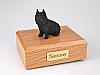 Brussels Griffon, Black Sitting Dog Figurine Cremation Urn