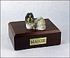 Shih Tzu, White-Gray Dog Figurine Cremation Urn