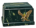 Green Marble with Eagle Cremation Urn