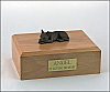 Chihuahua, Chocolate Ears Up Laying Dog Figurine Cremation Urn