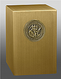 Navy Medallion Bronze Cremation Urn