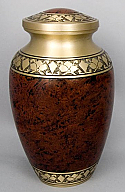 Smoky Brass Alexa II Cremation Urn