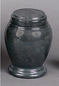 Small Black Marble Cremation Urn
