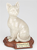 Sitting Cat Cremation Urn Figurine
