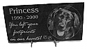 Photo Engraved Pet Memorial Stone