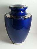 Royal Blue Brass Cremation Urn