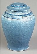 Azure Aqua Porcelain Cremation Urn