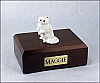 Persian, White Two Leg Up Cat Figurine Cremation Urn